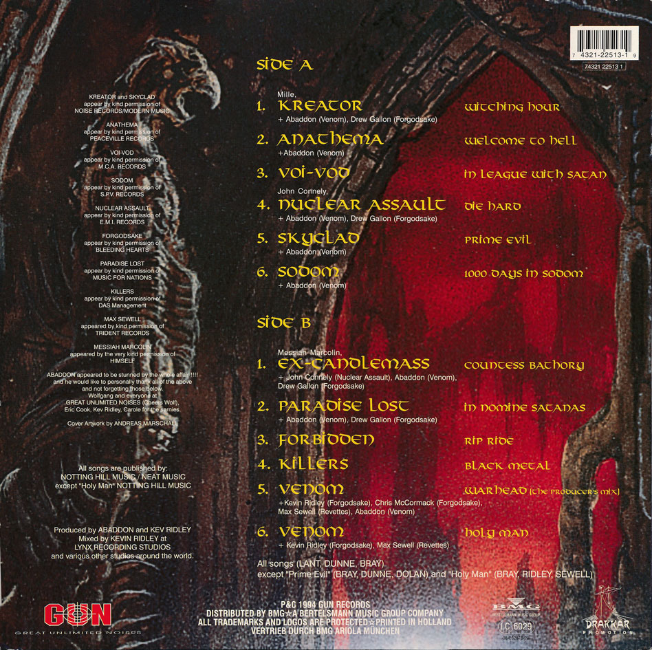 In The Name Of Satan - A Tribute To Venom LP 1994 - THE ...